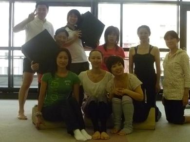 20110730Flexcushion x Pilates目黒若菜先生03