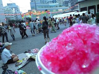 地元のお祭り(カキ氷)