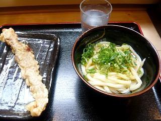 水道橋麺通団(釜玉とゲソ天)