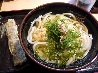 水道橋麺通団(冷やかけ中と竹輪天)