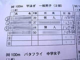 水泳大会(100mBr)
