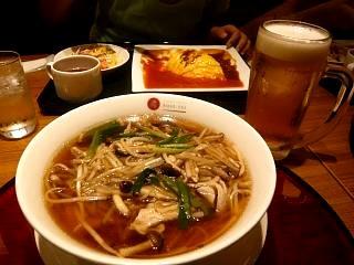横浜ローズ亭(サンマー麺とオムライス)