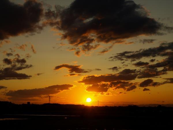 夕陽~雲~