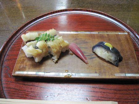 焼いた鱧はお寿司になりました