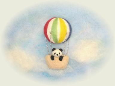 気球に乗って・・・(パンダ)