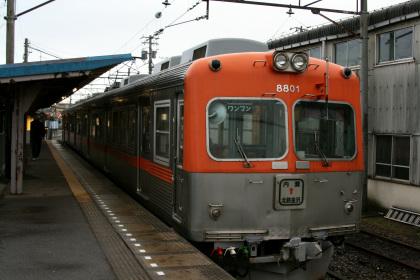 北陸鉄道7700系(内灘駅)