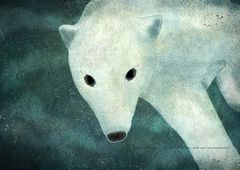 Polar bear under the water