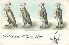 Judaica Austrian Anti-Semitic Jewish Postcard