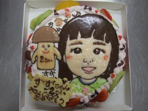 似顔絵ケーキ (2)