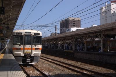 沼津駅の東海道線ホーム。