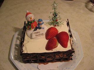 パン教室で習ったクリスマスケーキ