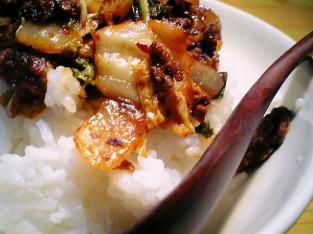 挽肉豚キムチ丼002