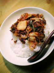 挽肉豚キムチ丼003