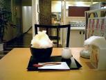 不二家レストラン白桃のかき氷7