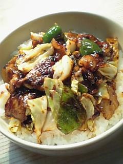キャベツと豚肉の豆豉醬炒め01