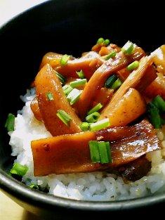 丹野メンマこんにゃく煮で丼05