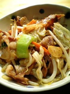中華風肉野菜炒め02