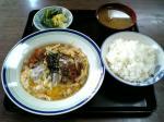 山田ホームレストランで本日の定食Cカツ煮005