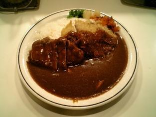 カレー専門店クラウンエース上野店でハンバーグカツカレー004