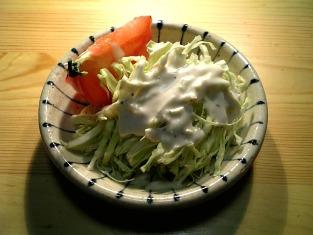 トマトとキャベツの千切りのサラダ001