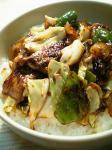 キャベツと豚肉の豆豉醬炒め02