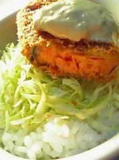 鮭フライ丼のお話002