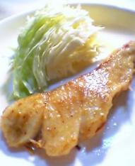 鱈のムニエルガーリックバター風001