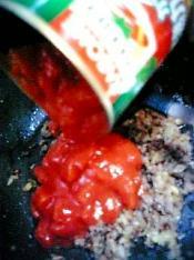 茄子ミートソース丼001