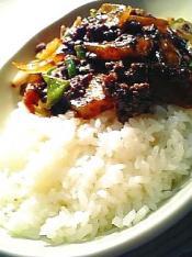 余り野菜と挽き肉の中華味噌炒めライス001