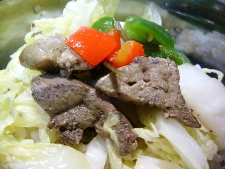 鶏レバー野菜炒め