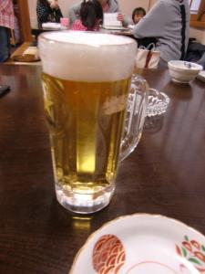 取り敢えず…ビール