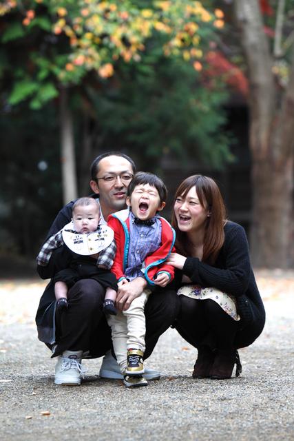 家族写真 神社 出張写真 ロケーション撮影 子ども写真 弘前市 平川市