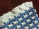 青いお花のバック