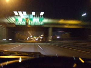 かつてよく渋滞した浦和本線料金所付近も空いていた