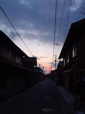 米子の街並