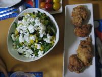 サラダとチキンフライ