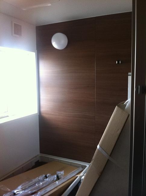 棟上げ時の様子(浴室)
