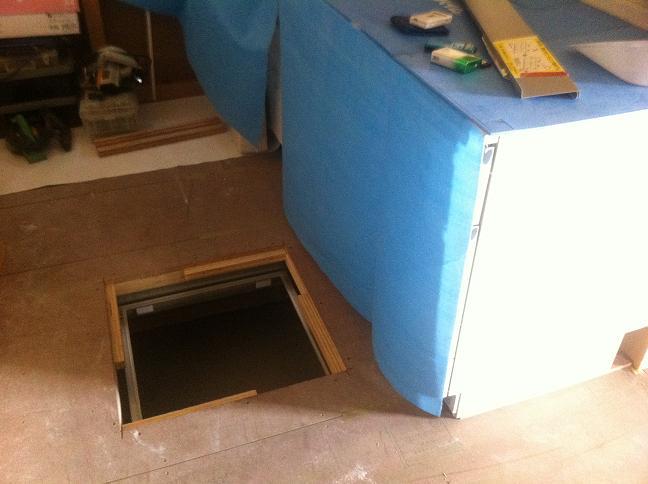 内装工事:床下収納
