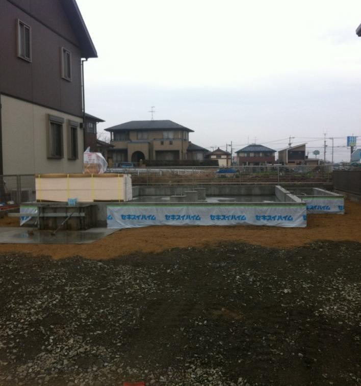 基礎工事22日目の様子(雨)