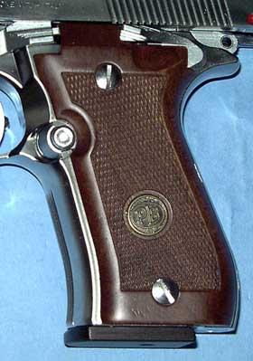 M84Fに木製グリップ装着