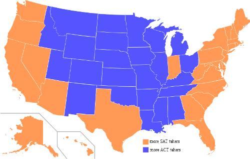 SAT-ACT 受験者地域比較