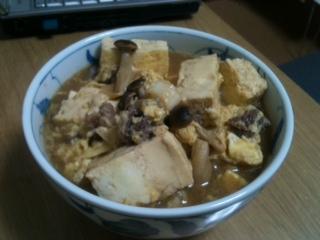 すき焼き風焼き豆腐の煮やっこ