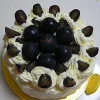 秋のケーキデコレーション