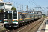 関西線の快速 JR東海213系5000番台@富田浜にて