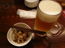 酢モツとビール