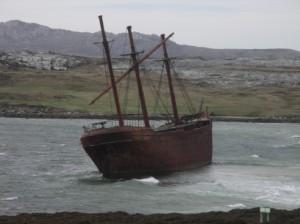 フォークランド沈没船