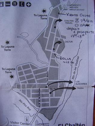 エル・チャルテン地図