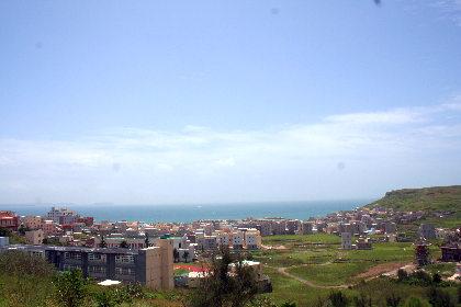 山の上からの景色。