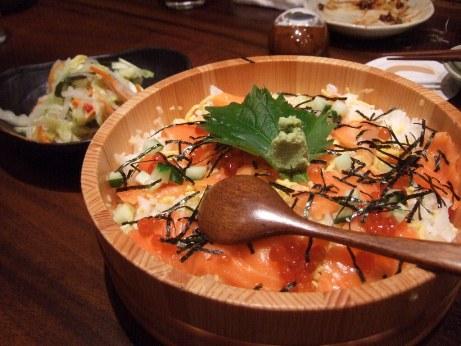 鮭親子チラシ寿司