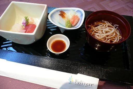 〆のそばと寿司